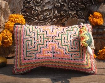 Upcycled Handmade Hmong Tribal Textile Purse