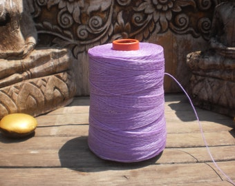Wax Cotton Cord Light Purple 100 Metres (109 Yards)