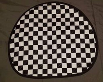 The Checkered Flag -A reversible Quilted Steering Wheel cover