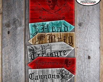 Pirate Signs - Pirate Arrow Signs - Pirates Voyage Party Signs - Directional Signs - Printable (Head, Treasure, Brig, Cannons, Plank, Nest)