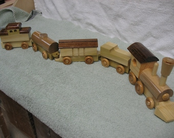 toy wooden freight train