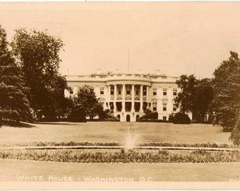 Real Photograph Postcard, Washington, DC, White House, ca 1950