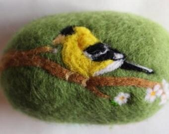 Felted Soap, Goldfinch, Song Birds, Handmade