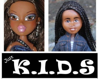Bratz Transformed, MULTI-RACIAL DOLL, African, Black, single braids, bratz transformation, doll changed, makeover dolls