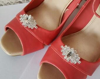 Wedding Rhinestone Shoe Clips,  Bridal Shoe Clips, Rhinestone Shoe Clips, Crystal Shoe Clips, Wedding Clips for Wedding Shoes, Bridal Shoes