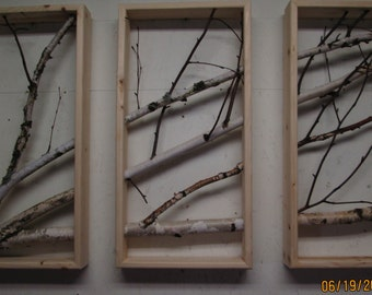 Birch Branch Triptych