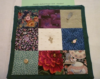 Green Family Quilted Prayer Cloth