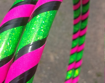 Watermelon Collapsible Hula Hoop // Custom // Any Size // Fitness // Workout // Dance // Exercise // Travel Hoop // Infinity Glow