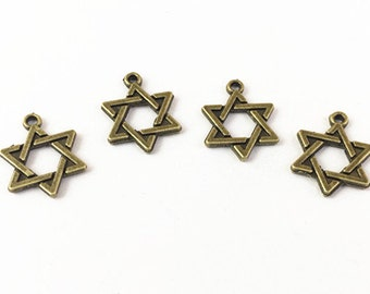 Star Charms 50pcs Antique Bronze Stars Charm Pendant 12mm G104-6
