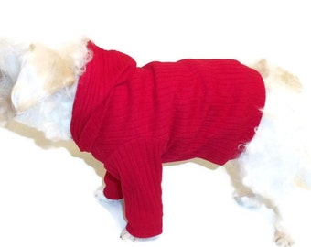 Dog Hoodie- Dog Clothes-Dog Hoodies-Red Dog Shirt-Dog Sweater-Dog Clothing-Dog Sweatshirt-Dog Shirts-Shirts for Dogs-Dog Apparel