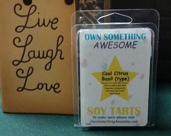 Cool Citrus Basil (type) Soy Tart Melts - Scented Wax Bar
