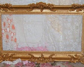 Vintage, Syroco, Ornate Frame, Wall Frame, Shabby Chic, Gold Ornate Frame, Hollywood Regency, Photo Prop