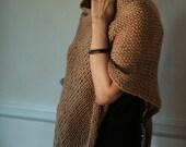 Hand Knit Poncho Lightweight Sweater