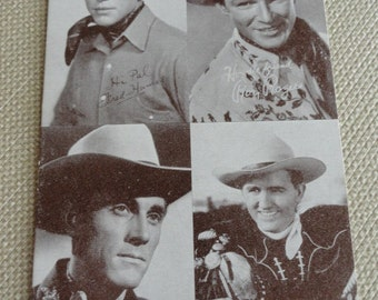 B969)  Vintage Cowboy Arcade Cards Ken Curtis Roy Rogers Kimmy Wakely Fred Humes