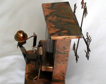 Music Box Copper Player Piano The Sting Cleft Notes Whirl a Gig