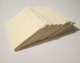 100 Cards, Multi Purpose Use, raw edge
