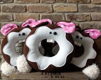 Big Chocolate Bunny Donut
