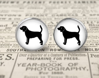 Beagle Dog Button Earrings