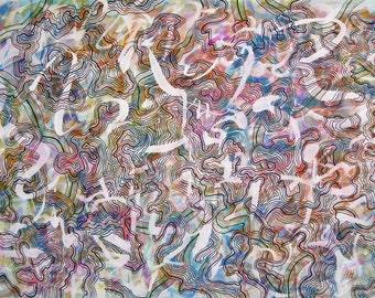 Cosmic Energies Original Painting Watercolour and Ink