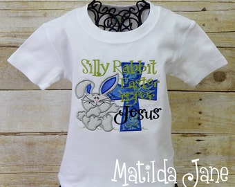 Easter is for JESUS Children's Appliqued Shirt, Boys or Girls Appliqued Shirt, Easter Cross Applique