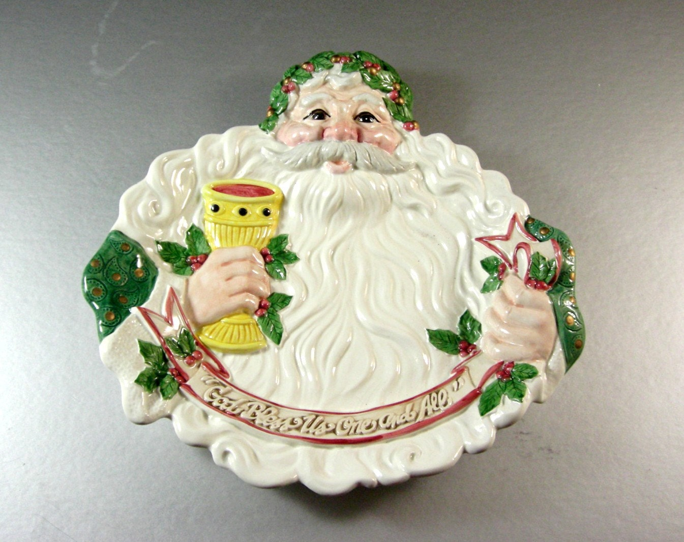 Fitz and floyd santa canape dish tray plate by ublinkitsgone for Fitz and floyd canape plate