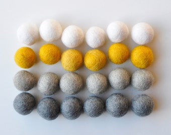 Curry Contagious Felt Ball Pack, 24 Pieces, Wool Felt Balls