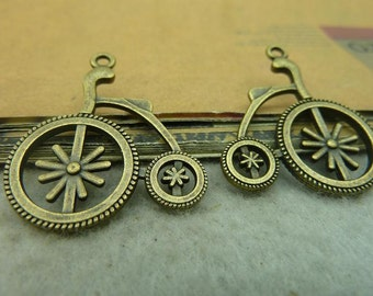 20pcs 27x30mm antique bronze  bicycle bike charms pendant C3652-26286