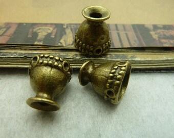 10pcs 13*13mm antique bronze bead cap C5681