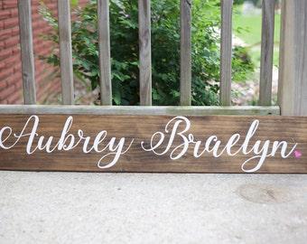 Name Board, Name sign, little girl sign, little boy sign