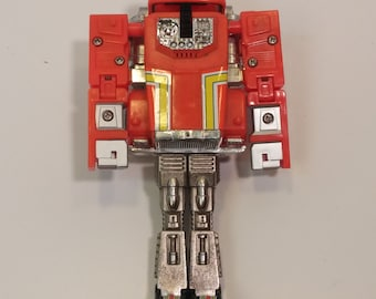 1984 Bandai GoBot Stacks - Transforming Toy, Early 1980s JAPAN - Broken front wheel, good for playing with or repair - XANDER listing