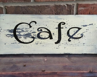 Vintage style cafe kitchen decor