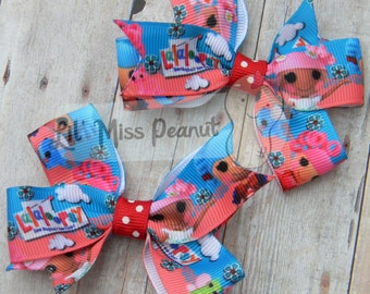 Lalaloopsy Pigtails Hair Bow Clips -Set of Two