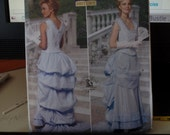 Boned Top and Bustle Skirt Sewing Pattern - Size 8-12 - Butterick 5696 - Uncut, Factory Folds - Historic Costume - Nancy Farris-Thee