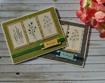 Handmade Greeting Card - Wild Flower Trio