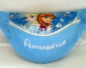 Disney Frozen Fanny Pack With or Without Embroidered Name - Children thru Adult Sizes