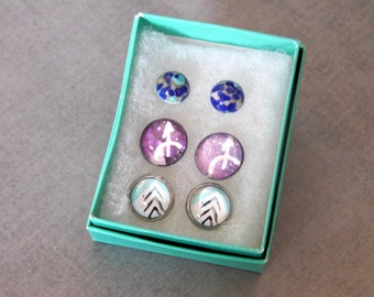 Sagittarius Stud Earrings : Zodiac Jewelry Set Signs