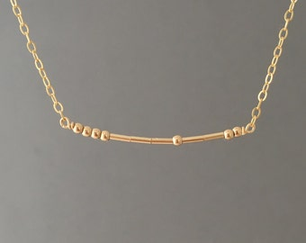 CUSTOM Gold Fill Morse Code Necklace also in Sterling Silver