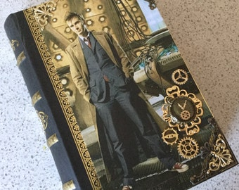 Dr. Who David Tennant Gallifreyan Steampunk Book Box