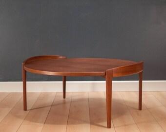 Jens Risom Round Walnut Coffee Table