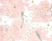 Magic - Mermaid Magic in Blossom Metallic - Sarah Jane for Michael Miller - MD7192-BLOS-D - 1/2 Yard