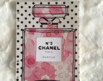 Polka Dot Floral Chanel Bottle Dashboard | Filofax Stationary