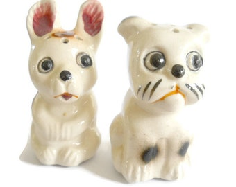 Vintage Puppies Salt and Pepper - 1940s