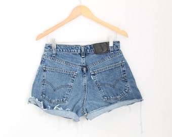 "Waist 30"" High Waisted Vintage Levi Denim Shorts"