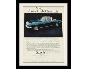 1971 Triumph Stag Car Ad, Vintage Advertisement Print