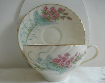 Lenox Fine China - Lenox Cup and Saucer - Vintage Lenox - Rose Bouquet by Lenox - 1987 Limited Edition Lenox - Tea Party China - Display Cup