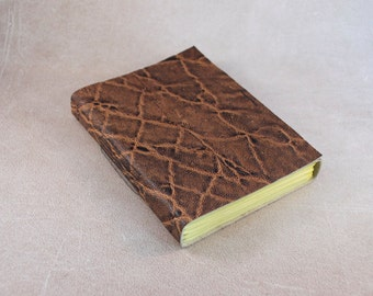 Leather journal elephant embossed sketchbook notebook diary