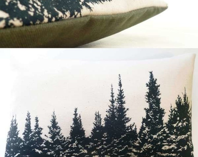 "11"" x 7"" Balsam Fir Pillow ""WINTERSCAPE"" / Coussin aromatique au sapin baumier ""PAYSAGE"""