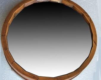 Wine Barrel Wall Mirror