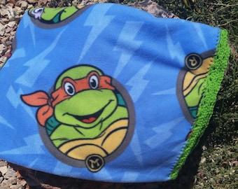 Teenage Mutant Ninja Turtles Crocheted Fleece Blanket