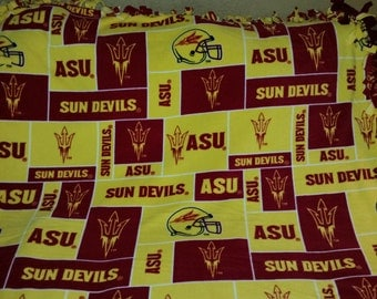 Arizona State University Fleece Tie Blanket